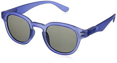 Peepers Freestyle Designer Sun Polarized Round Sunglasses, Blue, 44 - Sunglasses Peepers