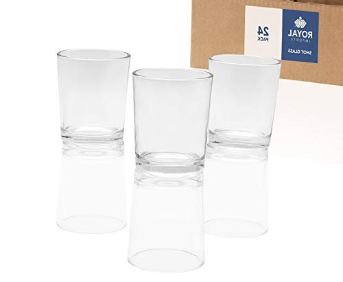 Mikash Candle Holder Glass Votive for Wedding, Birthday, Holiday & Home Tion, Shot Glass, Set of 24 - Unfilled | Shot Glass | Model WDDNG - 1236