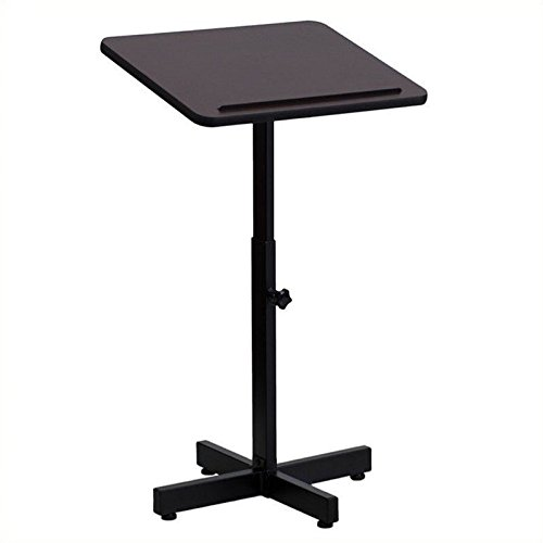 Flash Furniture Adjustable Height Metal Lectern in Mahogany by Flash Furniture