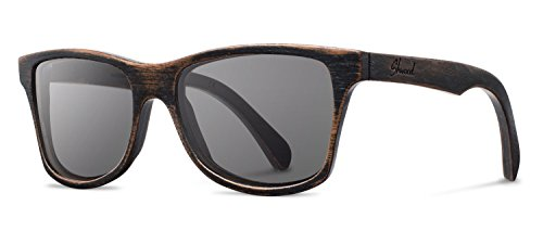 Shwood - Canby Wood, The Original Wood Sunglasses, Distressed Dark Walnut, Grey - Glass Canby