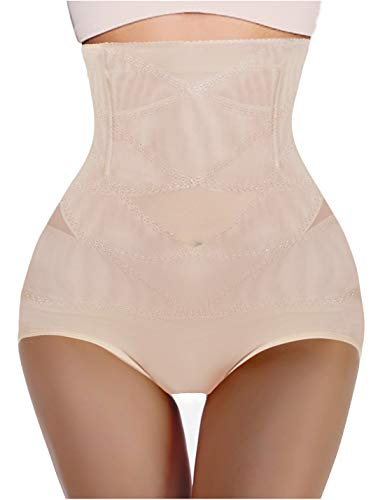 Nebility Women Butt Lifter Shapewear Hi-Waist Double Tummy Control Panty Waist Trainer Body Shaper