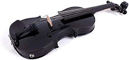 Violeta eléctrica de 5 cuerdas de 16 pulgadas, madera maciza, fiddle profesional con estuche Viola lazo negro: Amazon.es: Instrumentos musicales