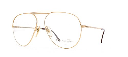 Christian Dior 2536 40 Gold Certified Vintage Aviator Eyeglasses Frame For - Dior 2013 Glasses Prescription