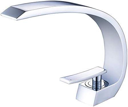 Wovier 水栓 ワンホール キッチン用 台付 黄銅 シングルレバー混合水栓 洗面 取り替え水栓蛇口 洗濯 蛇口 50cmホース*2付き