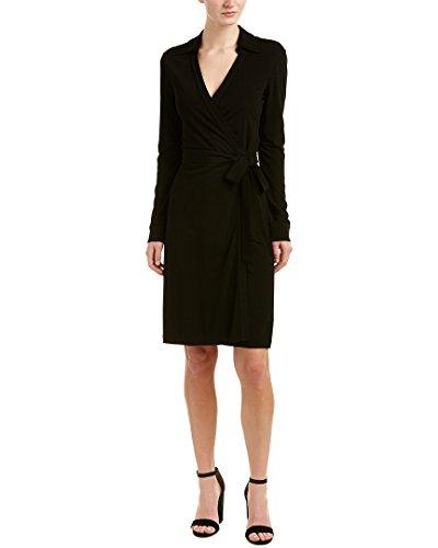 Diane von Furstenberg Women's New Julian Two Wrap Dress, Black, 8 -