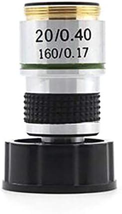 Huante 185 Mikroskop-Objektiv Zubeh/ör biologisches Mikroskop 20 x achromatisches Objektiv