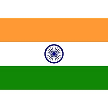 India Flag 3x5 Polyester - Indian National by SoCal Flags® - High Quality Weather Resistant Outdoor - 100d Material Not See Thru Like Other Brands