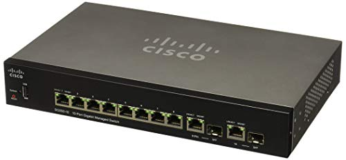 Cisco SG350-10 10-Port Gigabit Managed Switch - 10 Ports - M