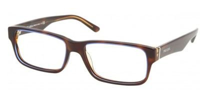 Eyeglasses Prada PR 16MV ZXH1O1 TORTOISE DENIM DEMO LENS 55mm (Prada Reading Glasses For Men)