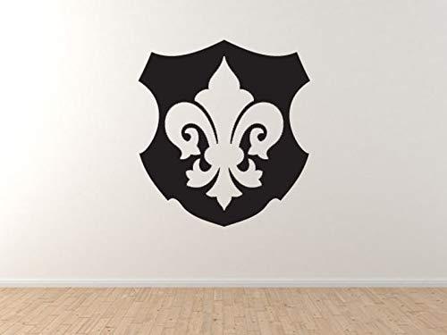 BYRON HOYLE Fleur de lis #5 - Family Shield Lily Flower Heraldic Wall Vinyl Decal Home Decor