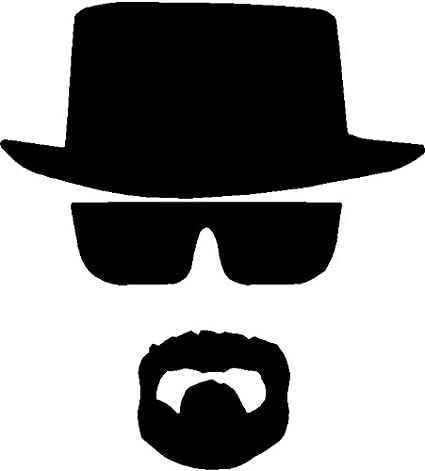 Amazon.com  Breaking Bad Heisenberg Face Hat Chihuahua Car Sticker Window  Vinyl Decal Tablet PC Truck (5.5