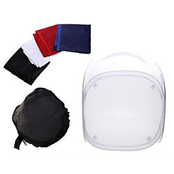 24 Inch 60x60cm Photo Studio Light Tent Cube Soft Box 4 Color Backdrops Shooting Set -  sc 1 st  Amazon India & 24 Inch 60x60cm Photo Studio Light Tent Cube Soft Box 4: Amazon.in ...