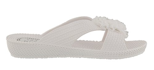 Choice Womens White a Sandals of Colours in Nicki Slip Wedge Low On Ella CnfHZqzwq