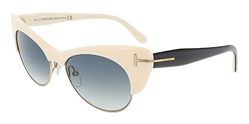 Tom Ford FT0387/S 25F Lola Ivory Cat Eye - Ford Celebrity Sunglasses Tom