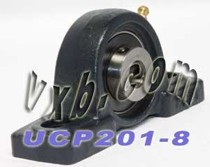 "UCP201-08  NEW High Quality 1//2/"" Set Screw Pillow Block Bearing  UCP201-8"