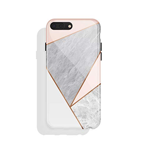 iPhone 8 Plus / 7 Plus case Geometric, Akna Collection Flexible Silicon Cover for Both iPhone 7 Plus & 8 Plus (932-U.S)
