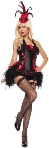 Mystery House French Cabaret Costume, Black, (Black Cabaret Costume)