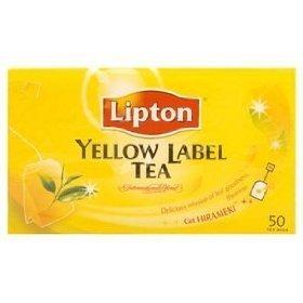 Lipton Yellow Label Tea 2g. Pack 50sachets