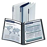 Office Depot''''Ink Won't Transfer'''' Flexible Poly View Binder, 1in. Rings, Blue, A7044167OD