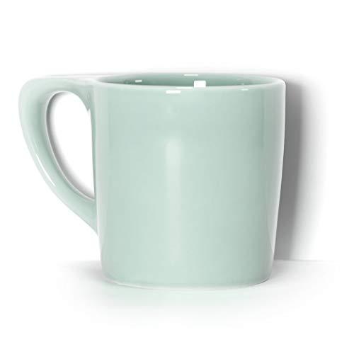 notNeutral LINO 10 oz Porcelain Coffee Mug - Sage Green | Single Mug | Ergonomic | Unique Coffee Mug | For Use at Home and Coffee - Mug Coffee Sage