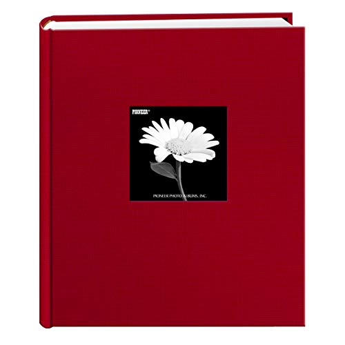Fabric Frame Cover Photo Album 200 Pockets Hold 5x7 Photos, Apple Red (Album 5x7 Christmas Photo)