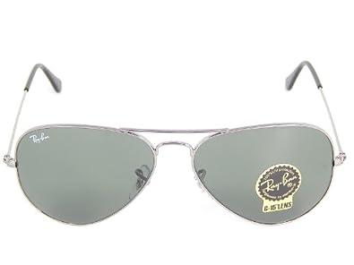 eed2c83abb new New Ray Ban Aviator RB3025 W0879 Gunmetal Crystal Gray-Green 58mm  Sunglasses