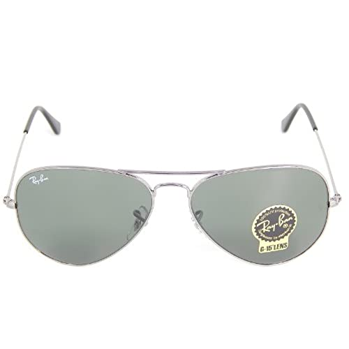 sunglasses ray ban rb3025 aviator large metal w0879 green 58mm