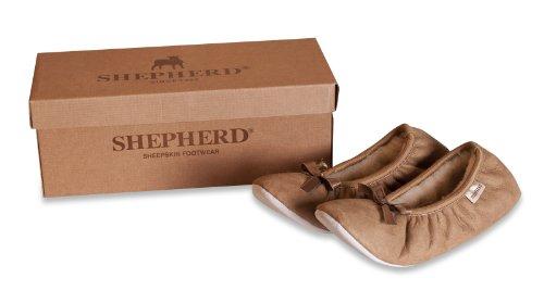 Shepherd SAGA 1208 - Zapatillas de casa para mujer Marrón castaña