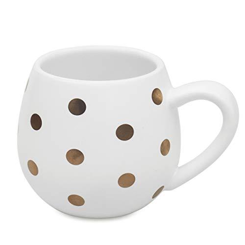 Funny Polka Dot Coffee Mugs Ceramic Milk Cup, 12oz Large White Cute Tea Mug Office Mugs for Womens Friends Grandma Mom Wife(White-Box) - Polka Dot Ceramic