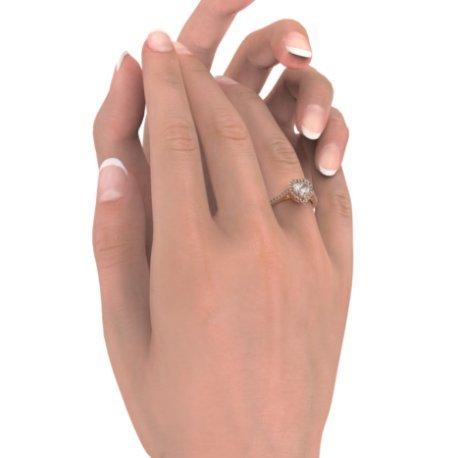 MELIA Bagues Or Rose 18 carats Saphir Blanc 0,6 Cur