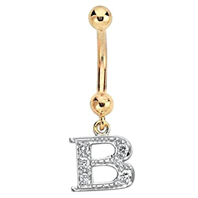 A Z Available 9ct Yellow Gold Diamond Set Initial