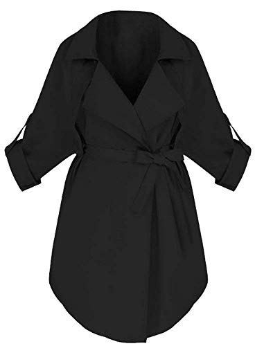 BoBoLily Longues Sp Taille Manches Grande Printemps Trench Automne Femme Blouson CPqn8HUCr