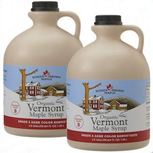 Hidden Springs Organic Vermont Maple Syrup - Dark Robust (Formerly Grade B), Gallon
