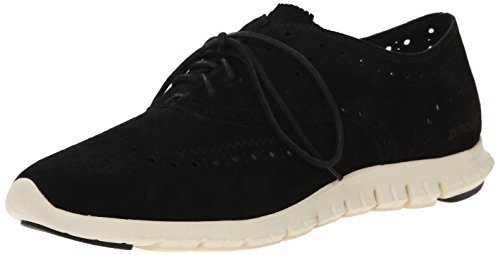 Cole Haan Women's Zerogrand Wing Ox Oxford, Black Suede, 6 B US by Cole Haan