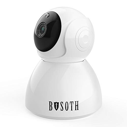 Wireless WiFi Camera 1080P Full HD Indoor PTZ Video Surveillance with Night Vision, Motion Detection, Auto Tracking, Two-Way Audio, Remote Monitoring Home Security IP Camera Nanny Cam for Baby & Pet ()