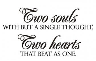 Amazoncom Decal Vinyl Wall Sticker Two Souls With But A Single