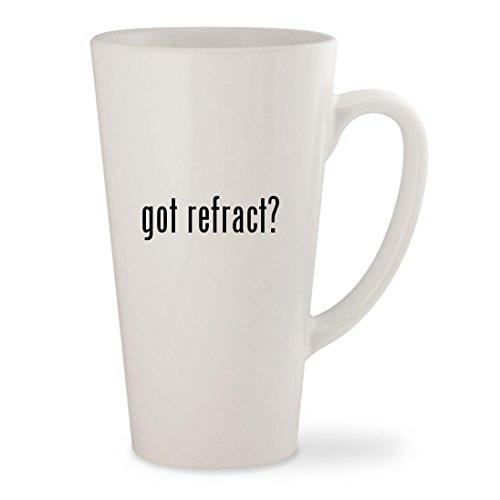 got refract? - White 17oz Ceramic Latte Mug Cup