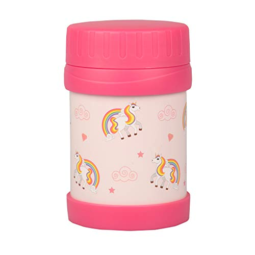 Bentology Stainless Steel Insulated Lunch 13oz Thermos for Kids - Unicorn - Large Leak-Proof Storage Jar for Hot/Cold Food, Soups, Liquids - BPA Free - Fits Most Lunch Boxes and Bags
