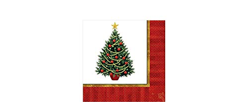 Amscan Twinkling Tree Supervalue Disposable Luncheon Napkins, 100 Ct.   Party Tableware
