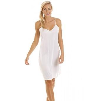 camille womens ladies white nightwear chemise full slip clothing. Black Bedroom Furniture Sets. Home Design Ideas