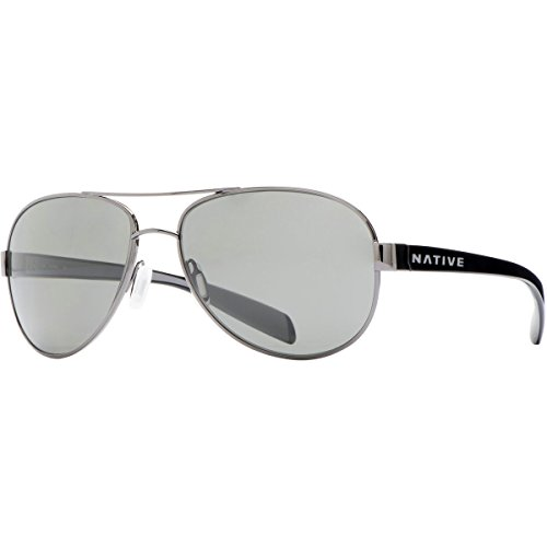 Native Eyewear Patroller Polarized Sunglasses, Gunmetal/Iron Frame