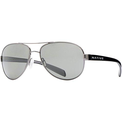 Native Eyewear Patroller Polarized Sunglasses, Gunmetal/Iron Frame