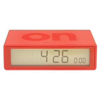Amazon.com: Lexon Flip On/off Alarm Clock Red: Home & Kitchen