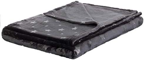 Supersoft deken met sterren2 gekleurd150 x 200 cmin de kleuren grijswit grijsturkoois en grijsbramenby Brandsseller Polyester GrijsTurquoise 150 x 200 cm