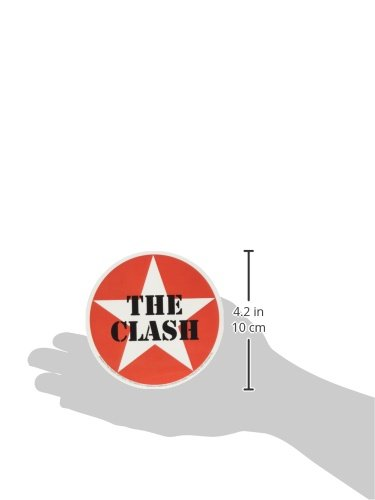 Officially Licensed Original Artwork Premium Quality 4 THE CLASH Star Logo Sticker Pegatina DECAL