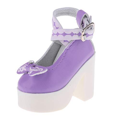 Per Caviglie Prettyia Blu Pantofole Scala Moda Viola Bambola Tacchi P Accessori 1 Alti 3 ZAp10wqw