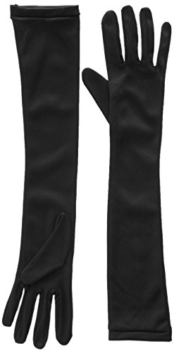 Jacobson Hat Company Women's Adult Stretch 18 Inch Long Gloves, Black, One Size -