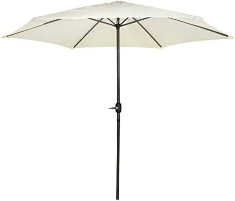 Aktive Garden 53872 - Parasol Hexagonal Diámetro 300 cm, Mástilil Aluminio 38 mm, Color Vainilla