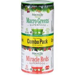 Natural Red Combo - Macrolife Naturals, Superfood Greens and Red Combo Pack, 4 Ounce