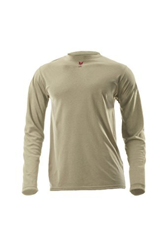 DRIFIRE Flame Resistant Industrial Lightweight Long Sleeve Shirt,Desert Sand, XL by DRIFIRE